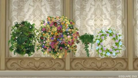 壁かけ家具・植物系