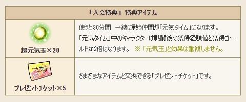 カード入会特典アイテム