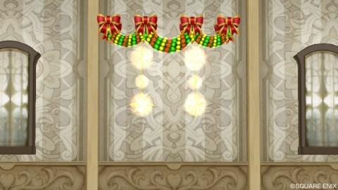 クリスマスのモール飾り