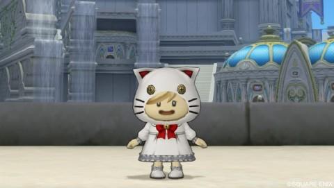 おしゃれ装備「白猫セット」