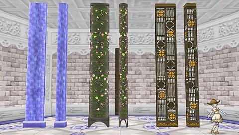 パラダイスな柱と壁セット